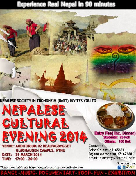 Nepalese Cultural Evening Poster 2014